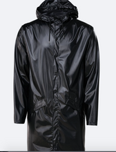 Indlæs billede til gallerivisning Rains Regn Jakke Long Jacket Shiny Sort 1202