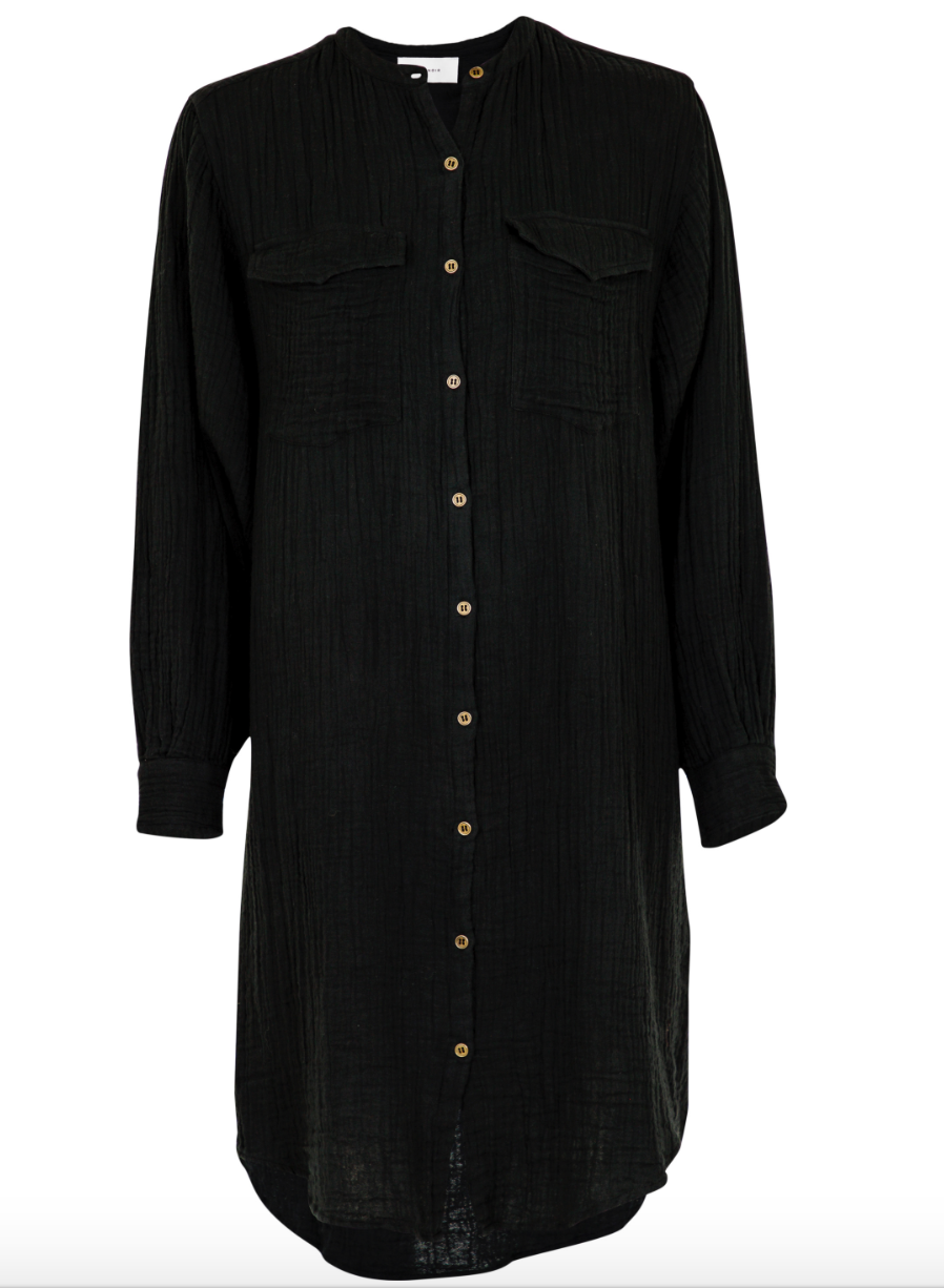 Neo Noir Skjorte/Kjole  Kendell Gauze Shirt Dress sort