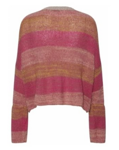 CONTINUE Cardigan  FILIPPA CARDIGAN STRIBE PINK 13312