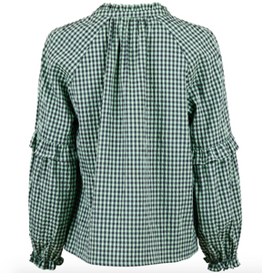 Neo Noir Bluse Willow Check 153824 Dusty Green