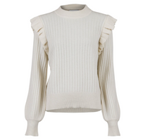 Indlæs billede til gallerivisning Neo Noir  Strik - Wanda Knit Blouse - Off White