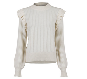 Neo Noir  Strik - Wanda Knit Blouse - Off White
