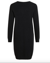 Indlæs billede til gallerivisning Vila Kjole Viril L/S Knit Dress Sort 14042768