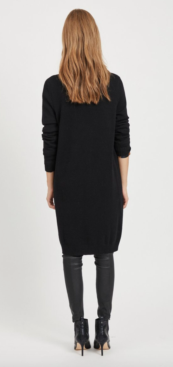 Vila Kjole Viril L/S Knit Dress Sort 14042768