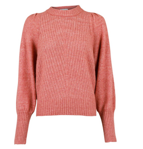 Neo Noir  Strik- Kelsey Knit Blouse - Rose Melange