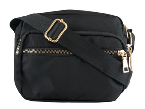 BLACK COLOUR TASKE Viggy Nylon Bag Small Sort