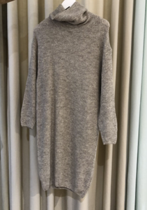 Tiffany Kjole Darling Roll Neck Dress Knit 8787J Beige