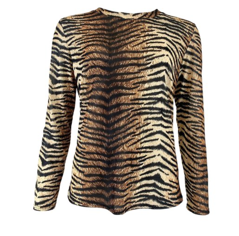 BLACK COLOUR Blouse  ANNIE MESH BLOUSE TIGER