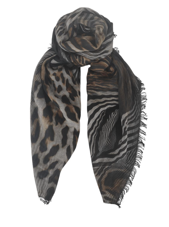 Black Colour Tørklæde  - Electra Doublesided Scarf - Black
