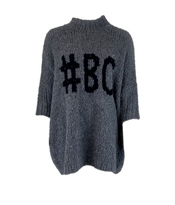 Black Colour Strik Teddy #BC Jumper 1022-FR (FRAPPE) Grey