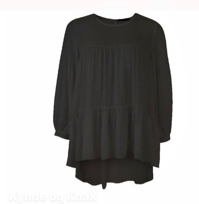 Black Colour Bluse 3782-Bl sort