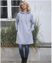 Indlæs billede til gallerivisning PREPAIR Sweat kjole Malle Sweat Dress Grey 1578A