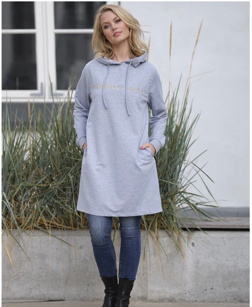 PREPAIR Sweat kjole Malle Sweat Dress Grey 1578A