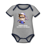 "Baby Body ""Serviceintervall"" - heather grey/navy"