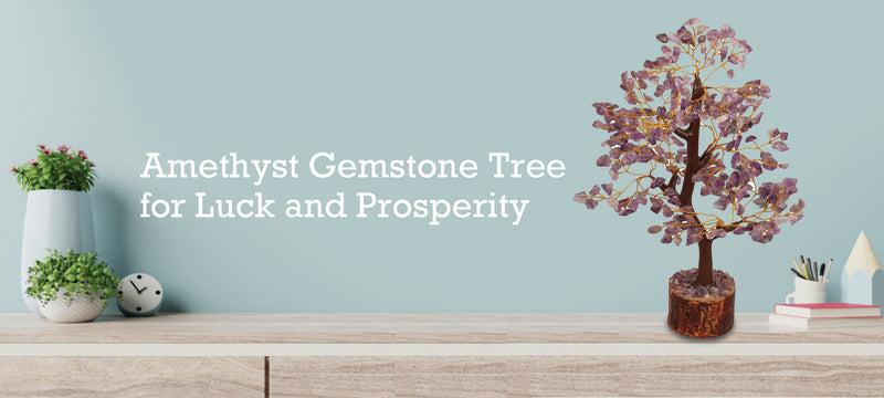 Amethyst Gemstone Tree for Luck and Prosperity
