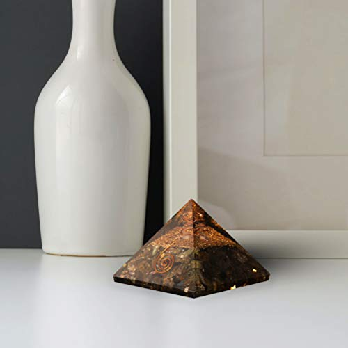 Labradorite Gemstone Orgone Pyramid | Crystal Point Size: 2.5-3 Inch