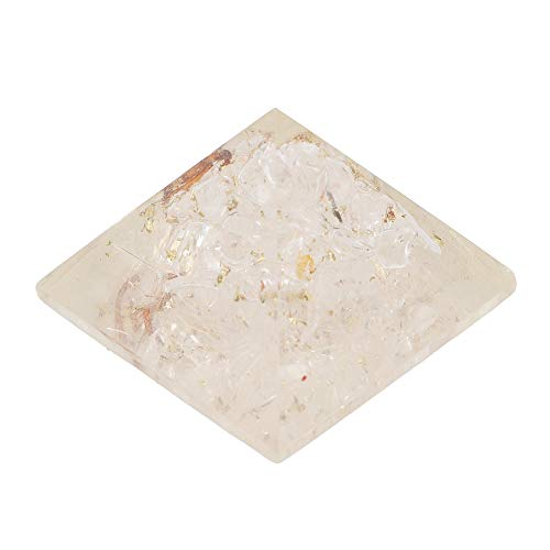 Clear Quartz Gemstone Orgone Pyramid  Size: 1 Inch