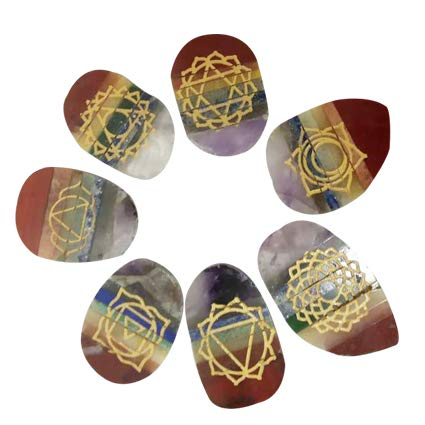 Seven Chakra Symbol Brings Harmony, Good Health, Success  Natural Stone