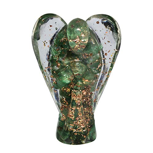 Ruby Zoisite Gemstone Carved Orgone Angel