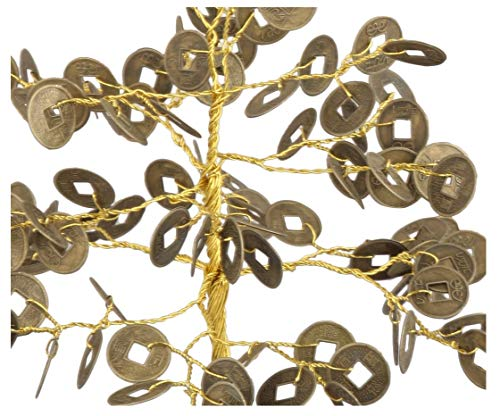 Chinese Coin Feng Shui Money Tree Size 7-8 inch Golden wire