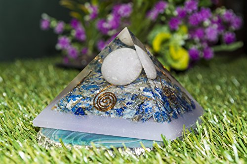 Exclusive Lapis Stone with Rose Quartz Ball Orgone Pyramid