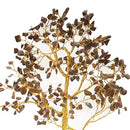 Tiger Eye Quartz Base Gemstone Money Tree Feng Shui Bonsai Size 10-12 Inch