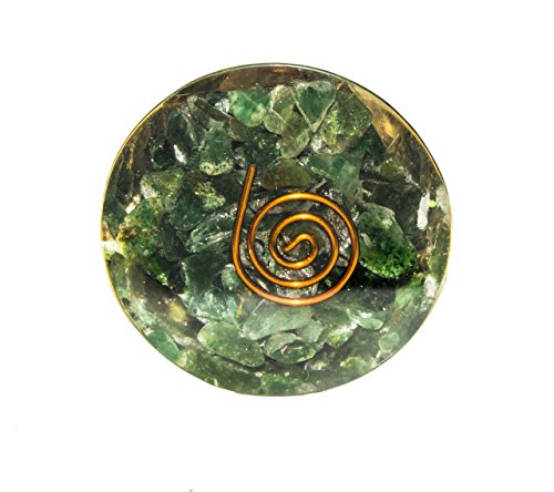 "Green Aventurine Gemstone Orgone Conical Pyramid Size: Base 1.5"" Height 3"""