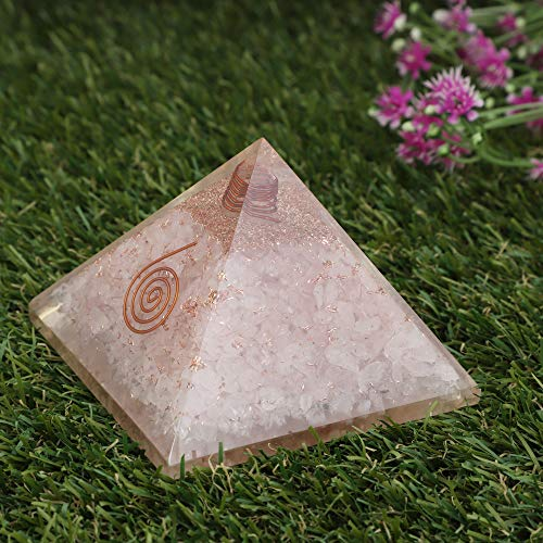 Rose Quartz Gemstone Orgone Pyramid Size : 3-3.5 Inch
