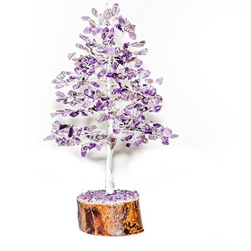 Amethyst Silver wire Gemstone Money Tree Feng Shui Bonsai