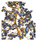 Lapis Lazuli Golden Wire Gemstone Feng Shui Bonsai Money Tree Size: 10 Inch