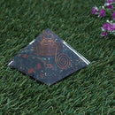 Blood Stone Orgone Pyramid | Crystal Point | Flower of Life Symbol Size: 2.5-3 Inch