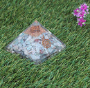 Larimar Chakra Balancing Orgone Pyramid With Crystal Point Size: 2-2.5 Inch