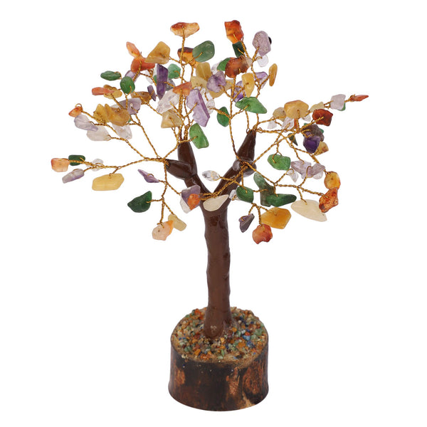 Yellow & Green Aventurine Carnelian Golden wire Money Tree Size approx 7-8 Inch