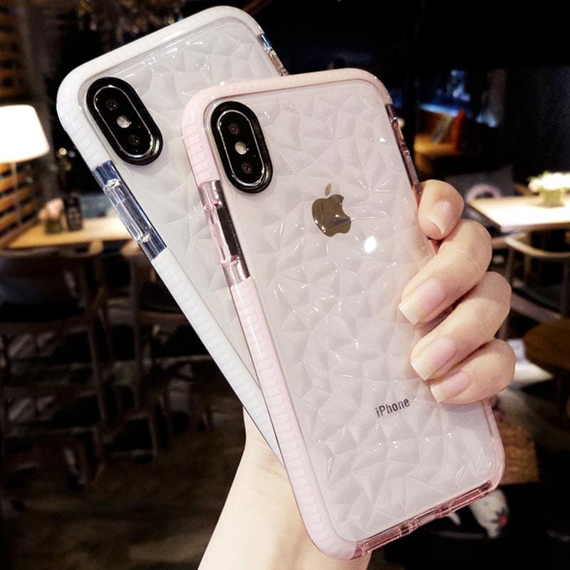 Shockproof Diamond Textured iPhone Case