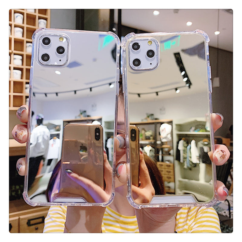 Luxury Clear Makeup Mirror iPhone Case
