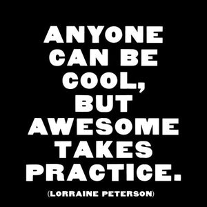 Quotable Greetings Card - Anyone can be cool...