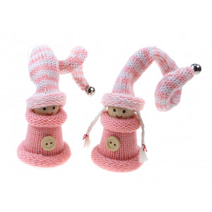 Christmas Pink Doll Decoration
