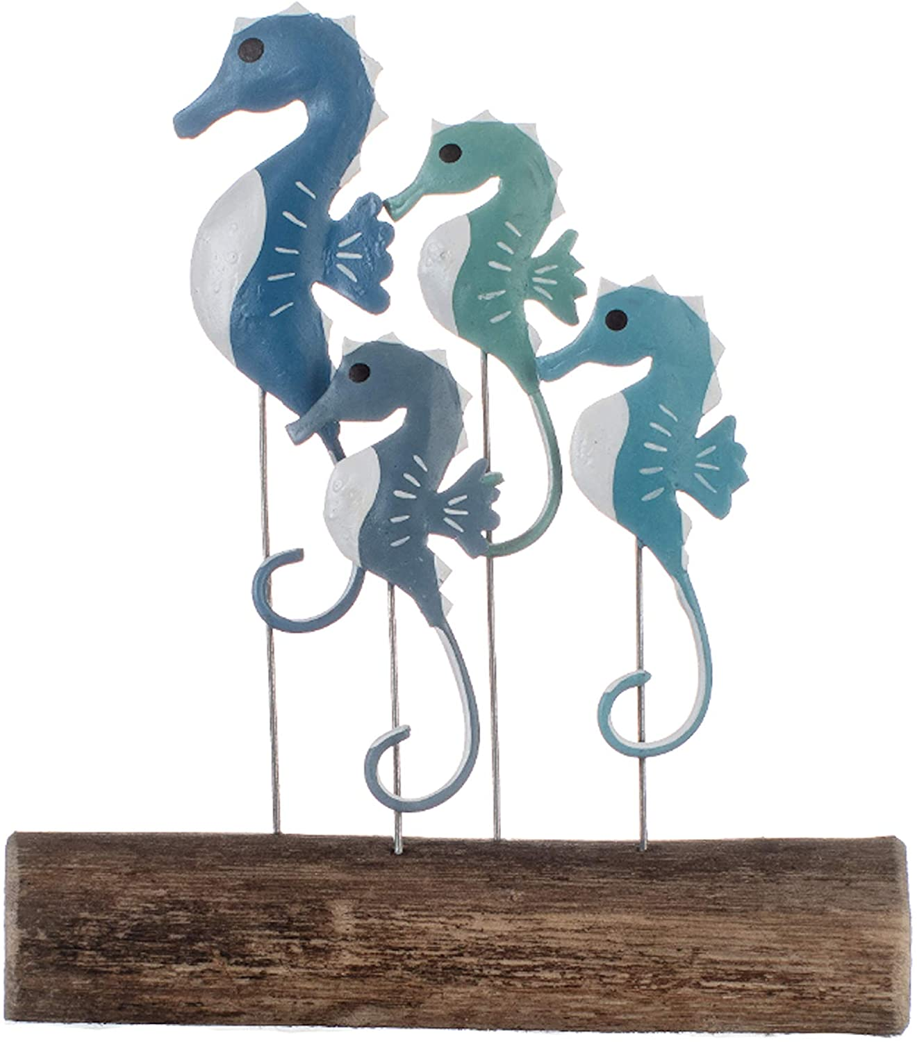 Shoeless Joe School of Seahorses on Wood