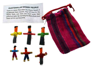Worry Dolls - Assorted set of 6 small worry dolls