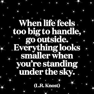 Quotable Greetings Card - When Life Feels Too Big To Handle.....