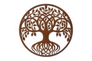 Outdoor Metal Tree Plaque