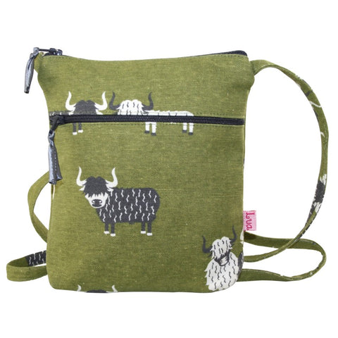 Lua Cross Body Zipped Purse - Highland Cows