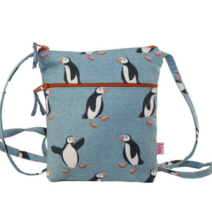 Lua Cross Body Zipped Purse - Puffins