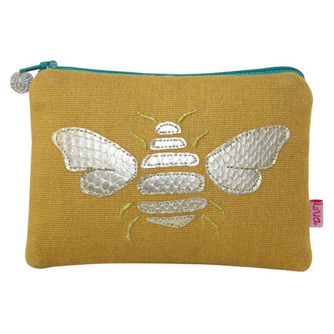 Gold Bee Coin Purse - Yellow Ochre