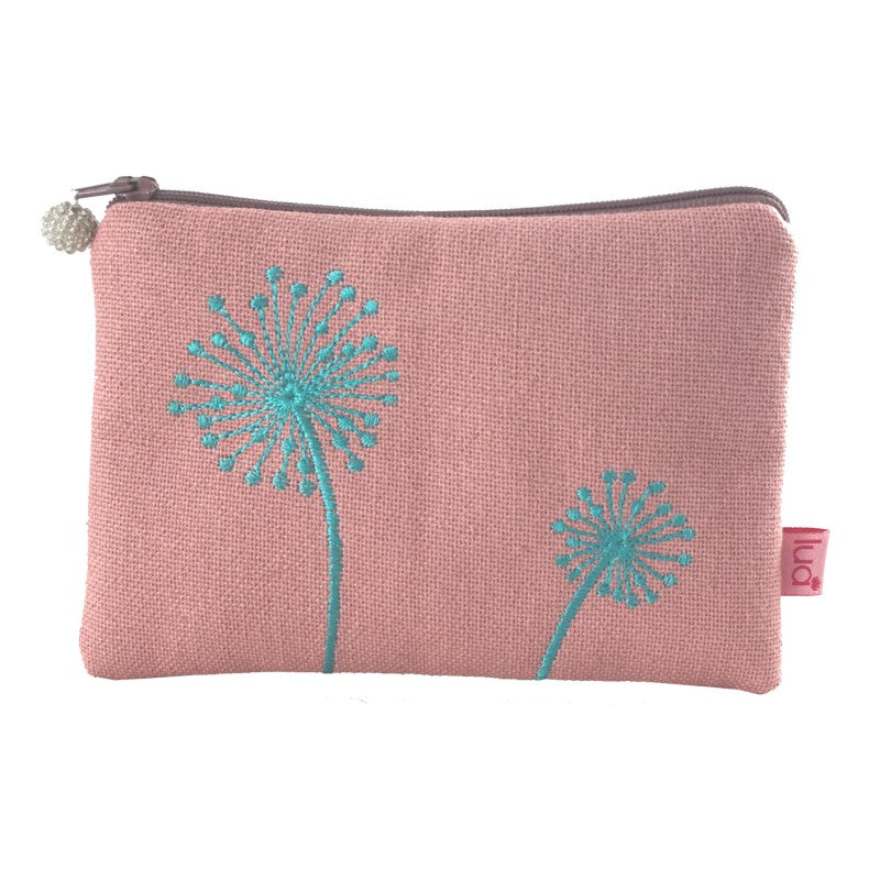Lua Dandelions Coin Purse - Blush Pink