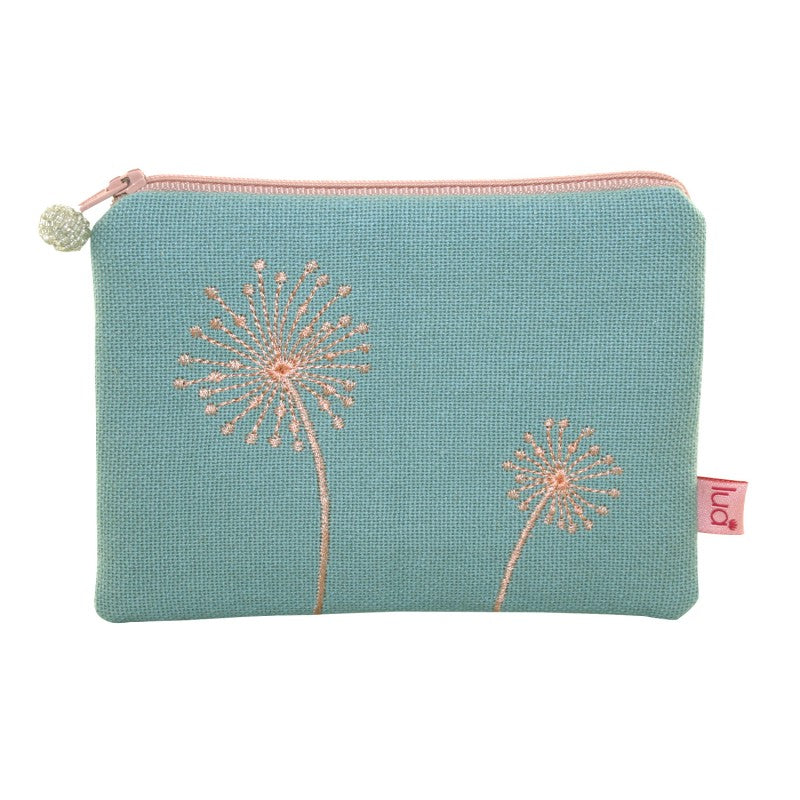 Lua Dandelions Coin Purse - Dusky Green