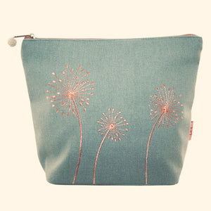 Dandelion Cosmetic Purse - Dusky Green