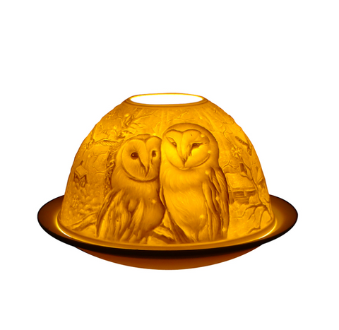Light-Glow Barn Owls Tea Light