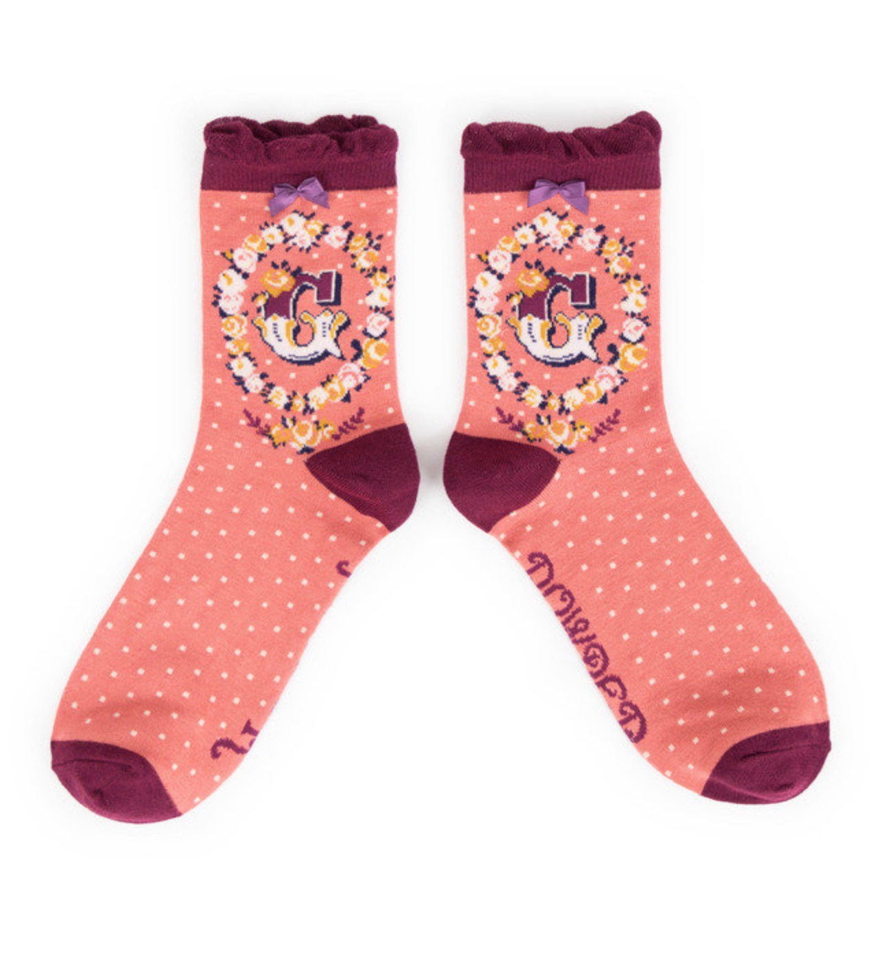 Powder Monogram Socks G