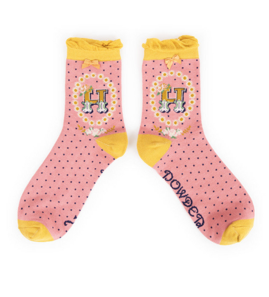 Powder Monogram Socks H
